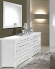 Dresser and Mirror Blanca in White Modern Style Made in Italy 33B394