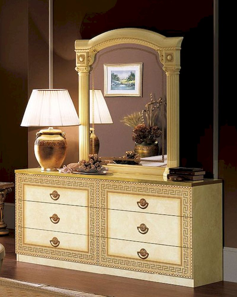 Dresser and mirror cleopatra european design made in italy for Design made in italy