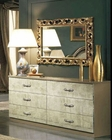 Dresser and Mirror Empire Classic Style Made in Italy 33B504