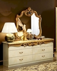 Dresser and Mirror Gold Baroque Classic Style Made in Italy 33B424