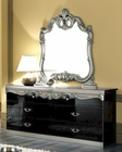Dresser and Mirror Silver Baroque Classic Style Made in Italy 33B444