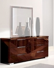Dresser in High Gloss Walnut Finish 33B165