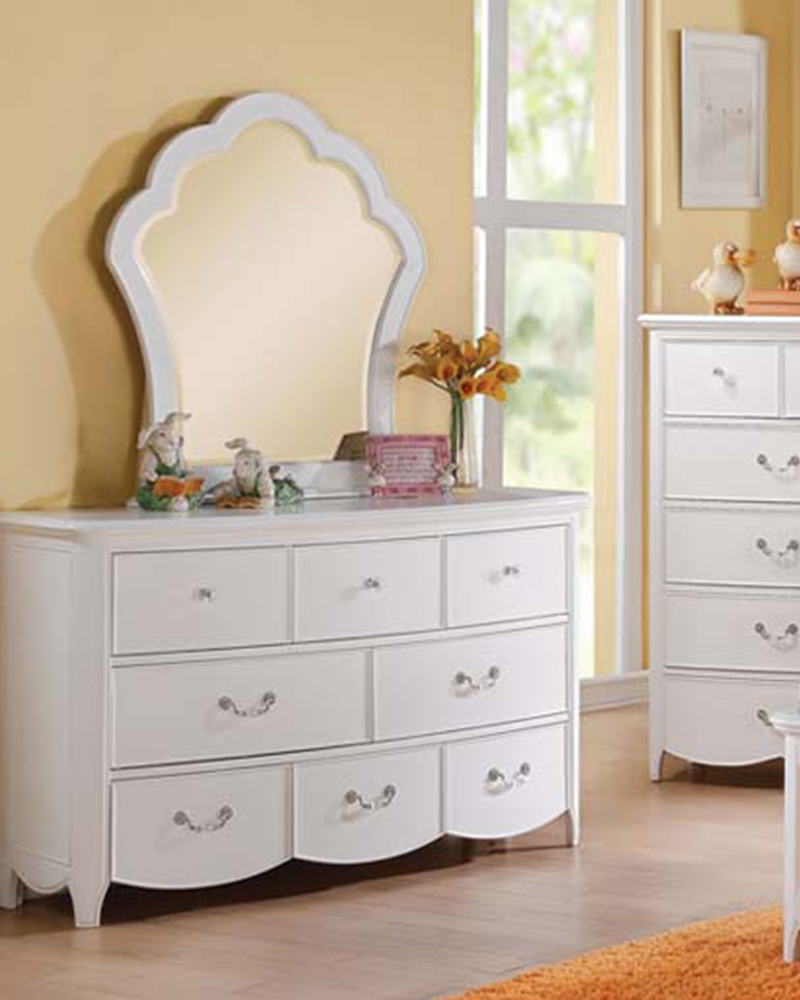 Dresser W Mirror Cecilie White By Acme Ac30325dm