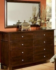 Dresser w/ Mirror Cottage Cherry Chocolate by Ayca AY-130608DM