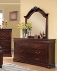 Dresser w/ Mirror in Cherry Finish Gwyneth by Acme Furniture AC21865DM