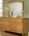 Dresser w/ Mirror in Light Oak Firefly County by Ayca AY-22-0606DM