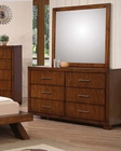 Dresser w/ Mirror in Oak Galleries by Acme AC20235DM