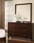 Dresser w/ Mirror Tyler Cappuccino by Acme AC19545DM