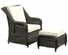 Du Jour Outdoor Armchair in Gray, White by Modway MY-EEI960GW