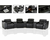 Eco-Leather Recliner Sectional Sofa w/ Audio System 44L5965