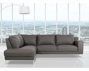 Eco-Leather Sectional Sofa in Modern Style 44L5994