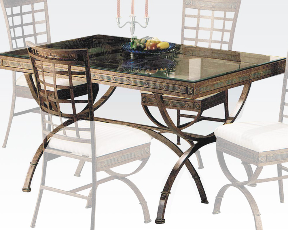 Egyptian dining table by acme furniture ac