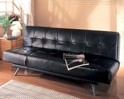 Elegant Klik Klak Sofa in Black or Dark Brown Ginger MO-GIN