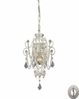 ELK Elise 1-Light Mini-Chandelier in Antique White With Adapter Kit EK-12017-1-LA