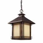 ELK 1 Light Outdoor Pendant in Hazlenut Bronze EK-42103-1