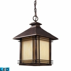 ELK 1 Light Outdoor Pendant in Hazlenut Bronze - Led EK-42103-1-LED