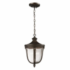 ELK 1- Light Outdoor Pendant in  Weathered Rust  EK-27002-1