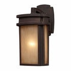ELK 1 Light Outdoor Sconce in Clay Bronze EK-42140-1