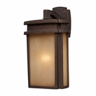 ELK 1 Light Outdoor Sconce in Clay Bronze EK-42141-1