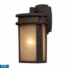 ELK 1 Light Outdoor Sconce in Clay Bronze - Led EK-42140-1-LED