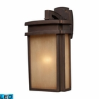 ELK 1 Light Outdoor Sconce in Clay Bronze - Led EK-42141-1-LED