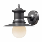ELK 1- Light Outdoor Sconce in Graphite EK-42405-1