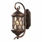 ELK 1 Light Outdoor Sconce in Hazlenut Bronze and Designer Water Glass EK-42030-1