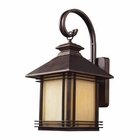 ELK 1 Light Outdoor Wall Sconce in Hazelnut Bronze EK-42101-1