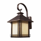 ELK 1 Light Outdoor Wall Sconce in Hazelnut Bronze EK-42102-1