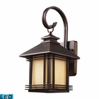 ELK 1 Light Outdoor Wall Sconce in Hazelnut Bronze - Led EK-42100-1-LED