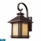 ELK 1 Light Outdoor Wall Sconce in Hazelnut Bronze - Led EK-42101-1-LED