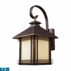 ELK 1 Light Outdoor Wall Sconce in Hazelnut Bronze - Led EK-42102-1-LED