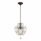 ELK  1 Light Pendant in Rust EK-4021-1