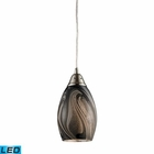 ELK 1- Light Pendant in Satin Nickel - Led EK-31133-1ASH-LED