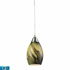 ELK 1- Light Pendant in Satin Nickel - Led EK-31133-1PLN-LED