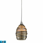 ELK 1- Light Pendant in Satin Nickel - Led EK-31142-1-LED