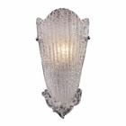 ELK 1 Light Sconce in A Silver Leaf Finish EK-1510-1