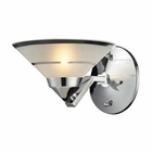 ELK 1 Light Sconce in Polished Chrome and Etched Clear Glass EK-1470-1