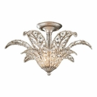 ELK 1- Light Semi-Flush in Sunset Silver EK-11365-1