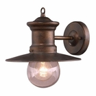 ELK 1 Light Wall Bracket in Hazlenut Bronze and Clear Seeded Glass EK-42005-1