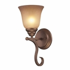 ELK 1 Light Wall Bracket in Mocha and Antique Amber Glass EK-9320-1