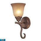 ELK 1 Light Wall Bracket in Mocha and Antique Amber Glass - Led EK-9320-1-LED