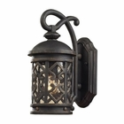 ELK 1 Light Wall Bracket in Weathered Charcoal and Clear Seeded Glass EK-42060-1