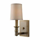 ELK 1- Light Wall Sconce in Brushed Antique Brass EK-31260-1