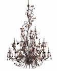 ELK 18 Light Chandelier Cristallo Fiore EK-85004