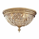 ELK 2 Light Flush Mount in Dark Bronze and Crystal Accents EK-6242-4