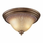 ELK 2 Light Flush Mount in Mocha and Antique Amber Glass EK-9319-2