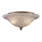 ELK 2 Light Flush Mount in Silver Leaf EK-1511-2