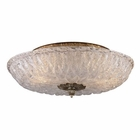 ELK 2 Light Flush Mount in Silver Leaf EK-1513-2