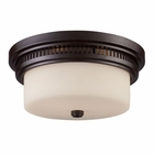 ELK 2 Light Flushmount in Oiled Bronze EK-66631-2